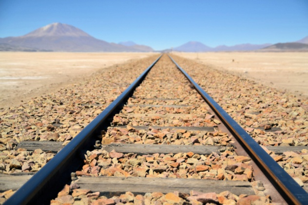 Desert Train Tracks