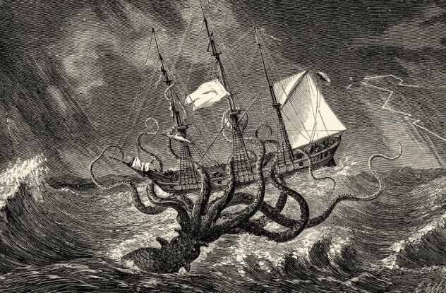 Sea monster - The Kraken as Seen by the Eye of Imagination