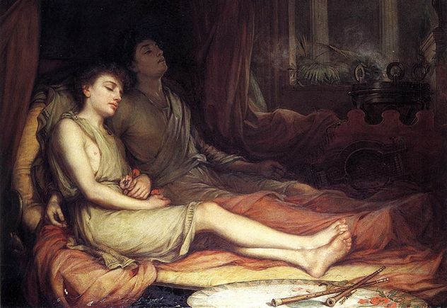 7_Waterhouse-sleep_and_his_half-brother_death-1874