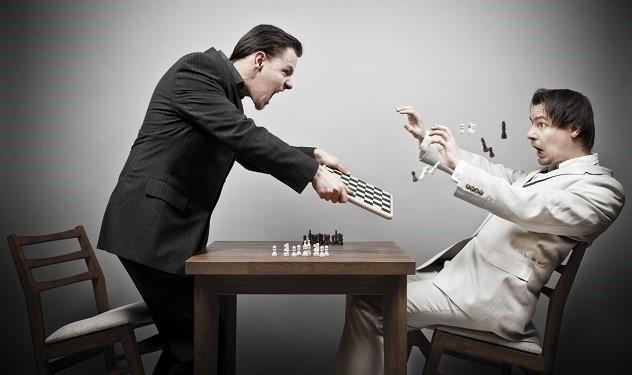 kemarahan catur