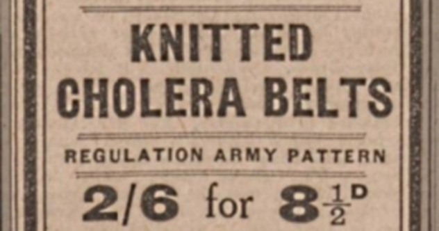 Cholera Belt Advertisement