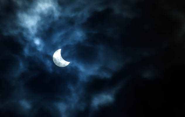 Partial Solar Eclipse on a Cloudy Day 20.03.2015