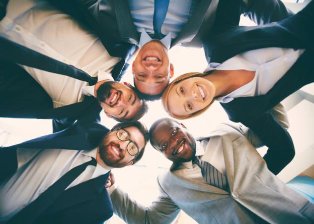 Multi-ethnic business team