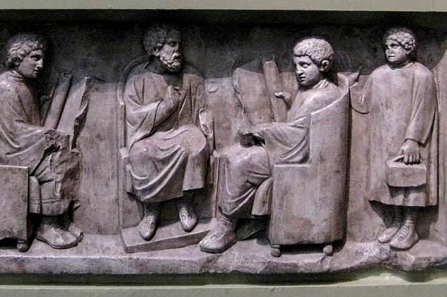 7- ancient roman school