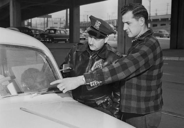 Windshield Pitting 1954