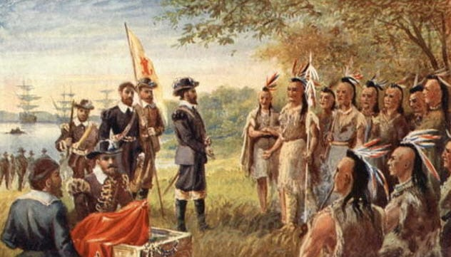 8-settlers-tribe-tense-meeting-jamestown
