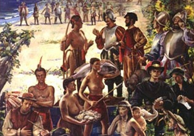 roanoke-colonists-and-natives
