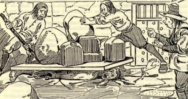 Image result for pressing of Giles Corey