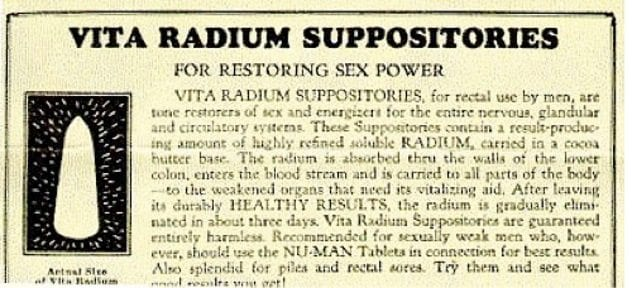 radium-suppositories