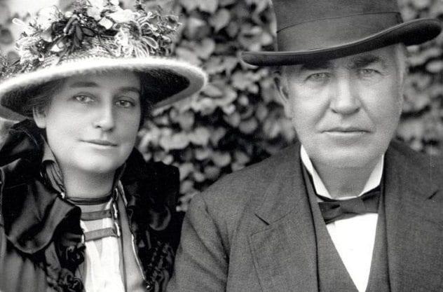 Thomas Edison and Mina Miller