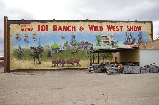 101 Ranch Wild West Show Mural