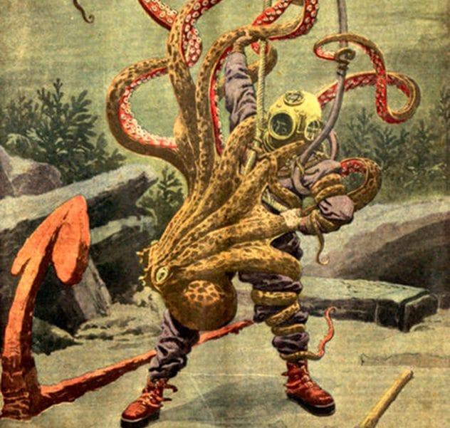 giant octopus attacks man - photo #2
