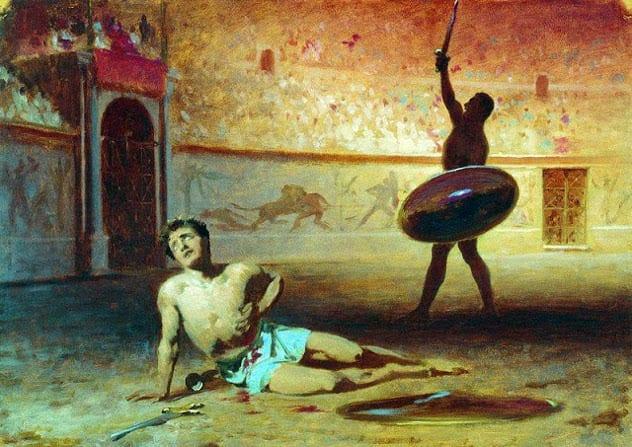 Fedor_Bronnikov_-_Dying_gladiator_(1856)