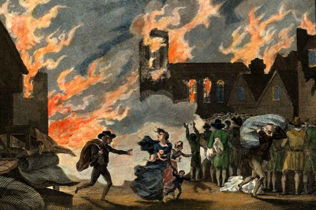 Fleeing-the-Great-Fire-of-London-1666