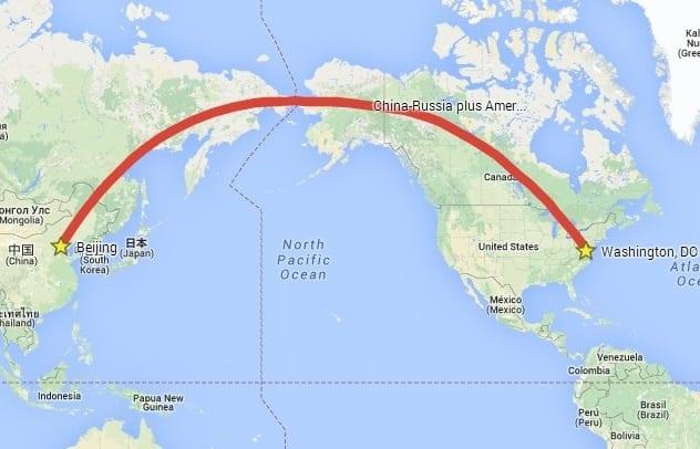 China-Russia-Canada-America Line
