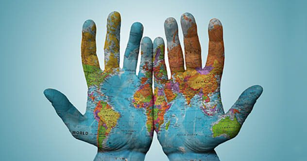 World Map On Hands.10 Map Mistakes With Momentous Consequences Listverse