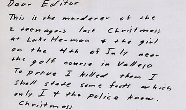 10 Creepiest Letters Penned By Serial Killers Listverse