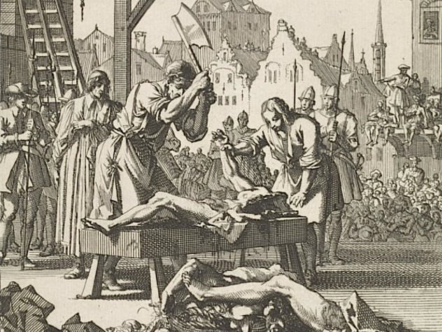Image result for old rome head cutting punishment