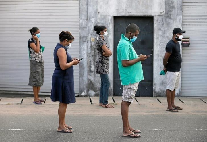 التباعد الاجتماعي في كولومبو