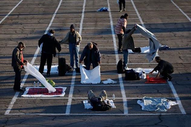 بلا مأوى في لاس فيغاس